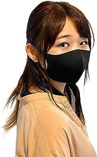 aesta(アエスタ) マスク 冷感 5枚セット 夏 繰り返し 洗える マスク 涼しく 快適 クールマスク ソフトフィット 手洗い 大人用 洗えるマスク 男女兼用 01 黒 ブラック 5枚セット