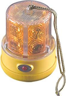 North American Signal PSLM2-A LED Personal Safety Warning Light with Magnetic Mount, Battery Operated, Amber