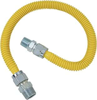 Brasscraft CSSC14-48 Range and Gas Furnace Flex-Line, 24.5x3.5x1, yellow