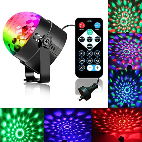 Disco Ball Strobe Light Party Lights Disco Lights Karaoke Machine 3W Dj Light LED Portable 7Colors Sound Activated St...
