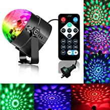 Disco Ball Strobe Light Party Lights Disco Lights Karaoke Machine 3W Dj Light LED Portable 7Colors Sound Activated Stage L...