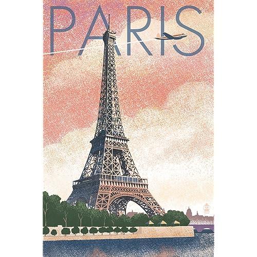 Vintage Paris Poster: Amazon com