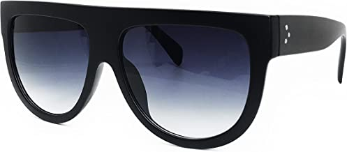 O2 Eyewear 6520 Oversize XL Mirror Tint Havana Shadow Style Designer Flat Top Womens Mens Sunglasses