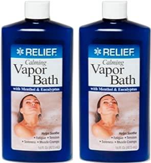 Lot of 2 Calming Vapor Bath with Menthol & Eucalyptus 16 oz/each bottle
