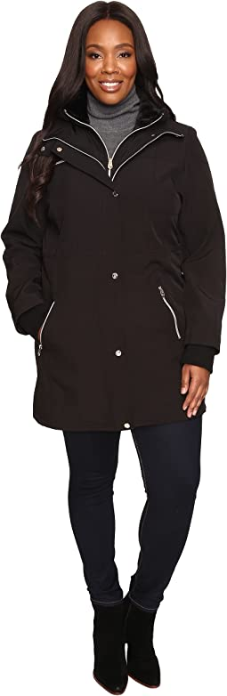 Plus Size Softshell with Bib and Faux Fur Collar