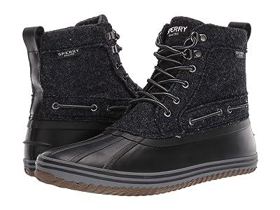 Sperry Huntington Duck Boot (Black Wool) Men
