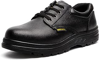 JACKBAGGIO Men's Steel Toe Slip Resistant Uniform Work Shoes 8802