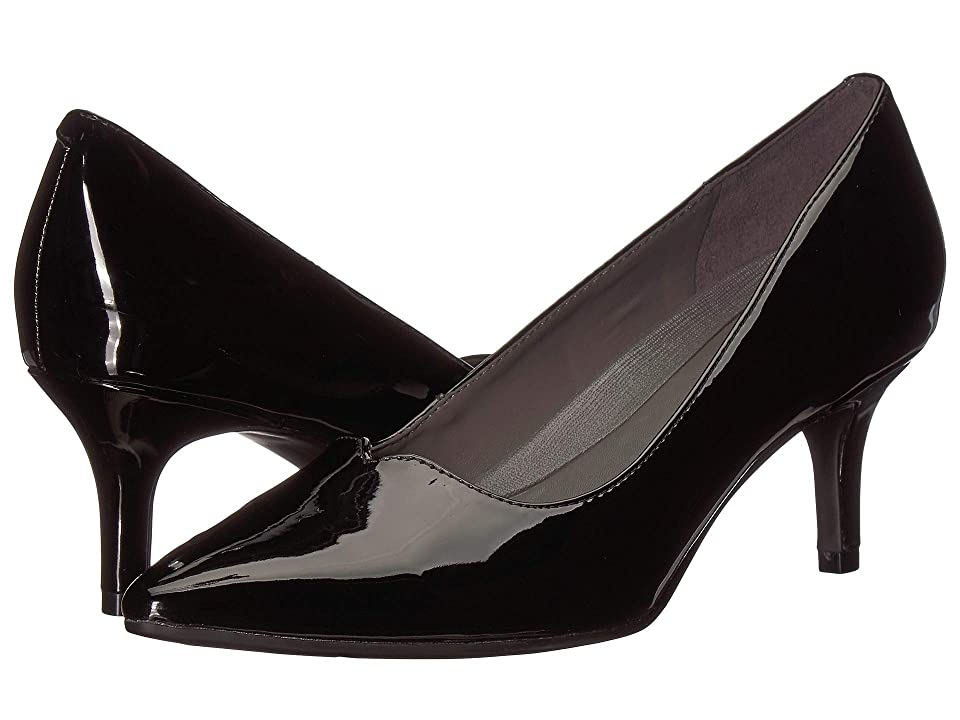 Image of A2 by Aerosoles Anagram (Black Patent) Women's 1-2 inch heel Shoes