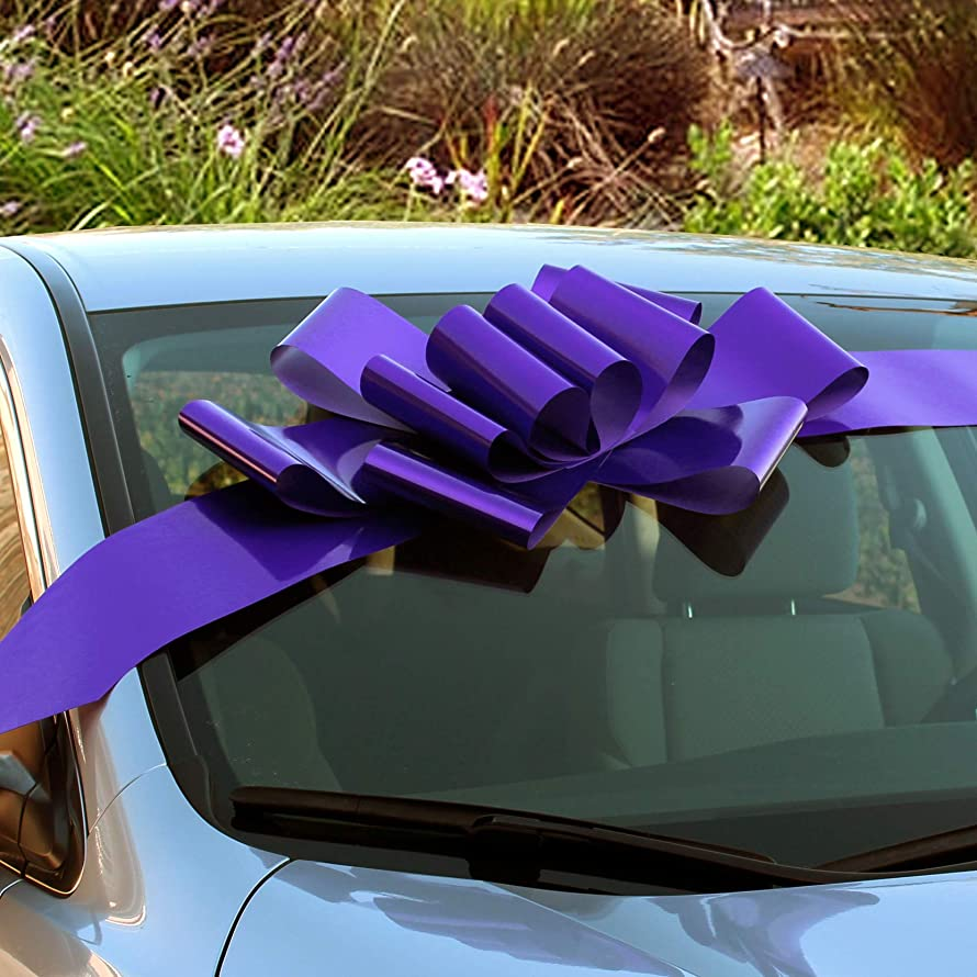 Big Purple Car Bow Ribbon - 25