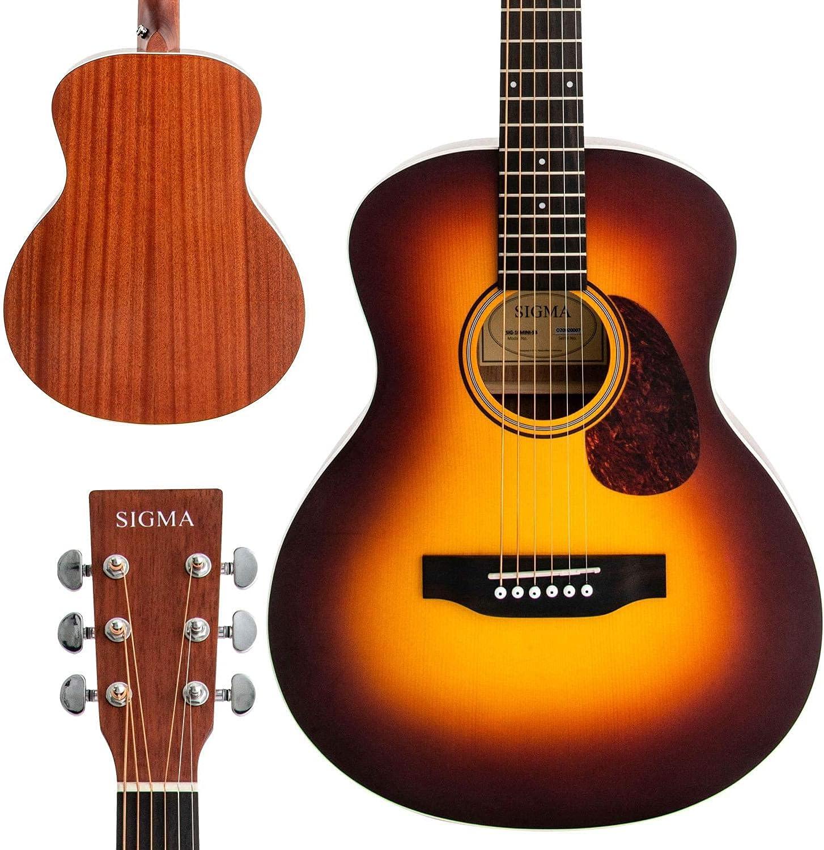 Direct sale Very popular! of manufacturer SIGMA MINI Acoustic Guitar Premium Name-Bran Tobacco Sunburst