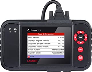 LAUNCH X431 Black Creader VIII OBD2 Diagnostic Scan Tool ENG/at/ABS/SRS Code Reader Scanner with EPB SAS Oil Reset Function