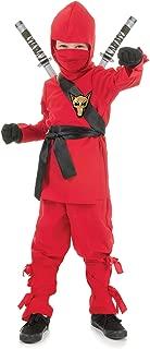Underwraps Costumes Children's Red Ninja Costume, Small 4-6 Childrens Costume