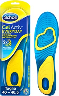Scholl Solette Scarpe Quotidiane Gel Activ Everyday per Uomo, 40-46.5 EU, 1 Paio