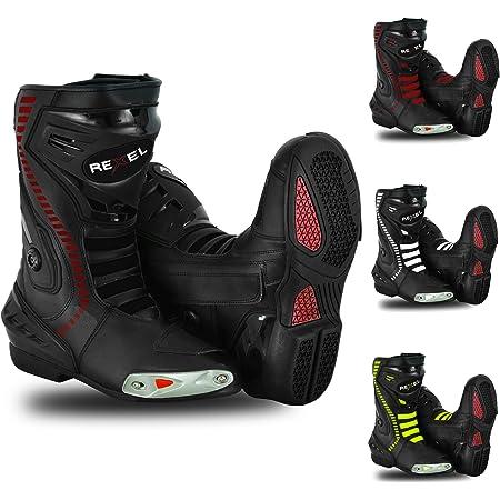 RIDEX RS-3 Motorcycle Biker Motorbike Waterproof Long Adventure Boot Black 8 UK, Numeric/_8
