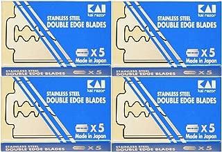 20 Stainless Steel Double Edge Razor blades from KAI Cutlery