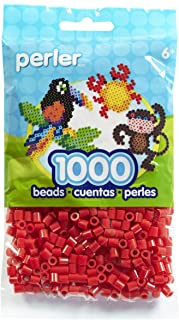 Perler Beads Fuse Beads for Crafts, 1000pcs, Red