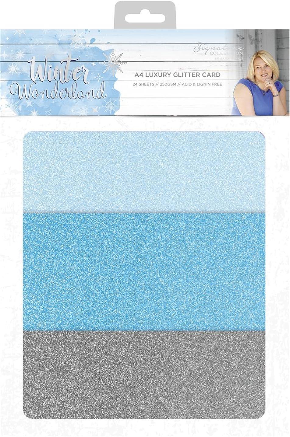 Sara Siganture S-WW Sara Signature Winter Wonderland Luxury Glitter Card, Mixed