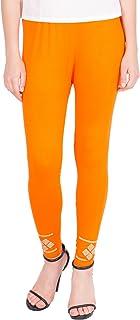 American-Elm Women's Stylish Ankle length Legging- Orange