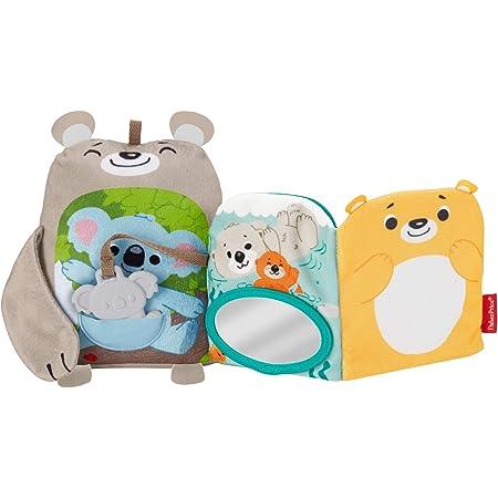 Fisher-Price Mon Livre Peluche d'Activités, jouet bébé aux textures et sons multiples, avec anneau de dentition koala, 3 mois et plus, GJD37