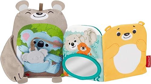 Fisher-Price Mon Livre Peluche d'Activités, jouet bébé aux textures et sons multiples, avec anneau de dentition koala...