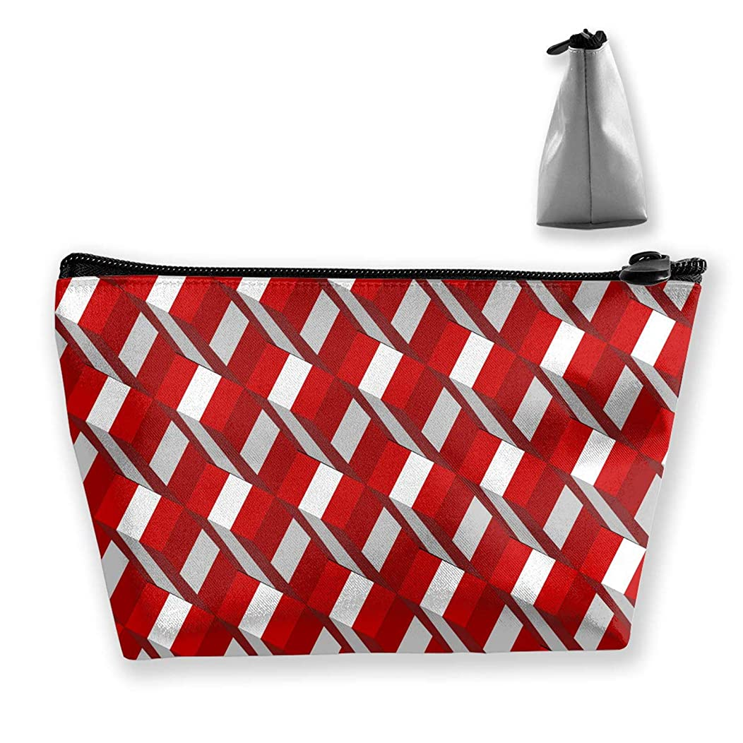 casually Peru Flag Cosmetic Bag Travel Makeup Bag Portable Accessories Organizer Storage Bag Women Multi-Purpose Jewelry Large Capacity