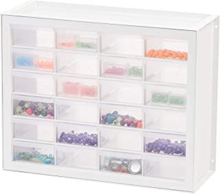 IRIS USA, Inc DPC-24 24 Drawer Sewing And Craft Parts Cabinet, 19.5 Inch By 15.5 Inch By 7 Inch, White