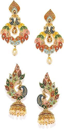 Jhumki Earrings for Women Multicolor ZPFK9024