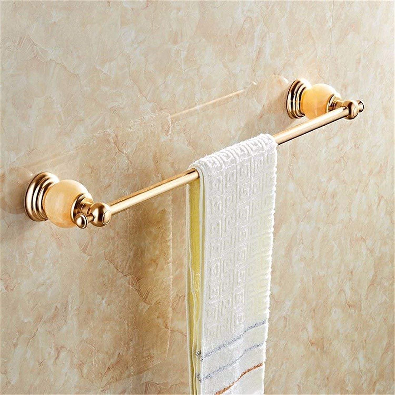 The Euclidean Space golden Jade Pendentif Aluminum Bathroom Dry-Towels Costume,Single Rod Booth