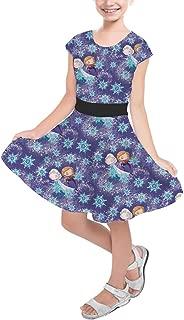 Rainbow Rules Sisters Forever Frozen Disney Inspired Girls Short Sleeve Skater Dress