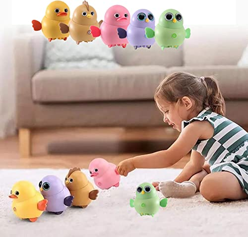 high quality RiamxwR Electric Chicken Toy, Electronic Interactive Toy Walking Swinging Chick for Toddler, Magnetic Electric wholesale Toy Chicks Duck Owl Team, Lovely Rocking Animal online Toys Set, Gift for Kids Chilren, 5PCs online sale