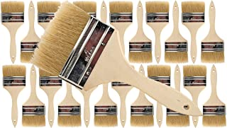 Pro Grade - Chip Paint Brushes - 24 Ea 4 Inch Chip Paint Brush