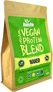 BodyMe Organic Vegan Protein Powder Blend | Naked Natural | 1kg | UNSWEETENED | Low Carb | With 3 Plant Based Vegan Protei...