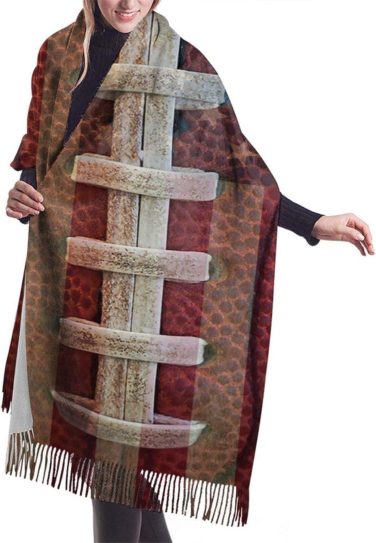 American Football Flag Cashmere Feel Scarf Lightweight Soft Scarfs For Boys Girls Creative Warm Cold Weather Blanket Scarf