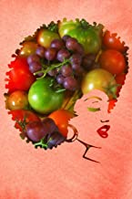 Vegan Afro Soul Woman: Eat Healthy Fruit & Vegetable Vegetarian Food Peach Softcover Note Book Diary   Lined Writing Journal Notebook   100 Pages   Farm Fresh & Plant Based