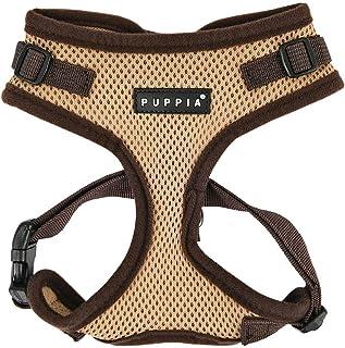 Puppia Authentic RiteFit Harness with Adjustable Neck, Medium, Beige