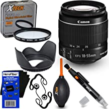 HeroFiber Canon EF-S 18-55mm f/3.5-5.6 is Mark II Zoom Lens for Canon DSLR Cameras (International Version) Plus 7pc Bundle Accessory Kit w Ultra Gentle Cleaning Cloth