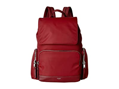 KNOMO London Mayfair Clifford Backpack (Berry) Backpack Bags