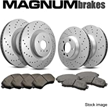 Front and Rear Magnum Performance Cross Drilled Brake Rotors & Ceramic Brake Pads for 1994-1998 Porsche 911 with 993 Body Excluding 4S & Turbo Trims