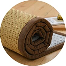 Natural Bamboo Carpet, Cool Sleeping Pad 2cm Thickness Area Rugs for Living Room Balcony Bay Window Clubhouse Floor Mat,Cu...