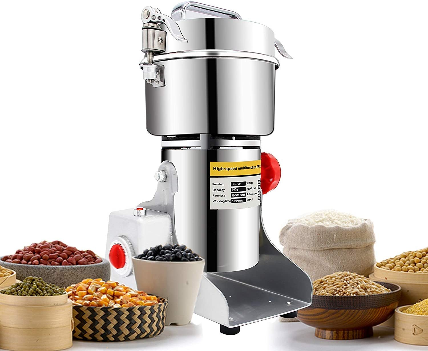 NEWTRY Grain Grinder Electric Spice Detroit Mall Herb Store Mill 700g Food 2400W Gr
