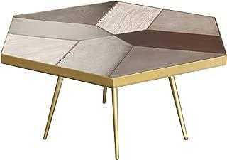 Nuevo Giselle Coffee Table with Matte Concrete Oak Top