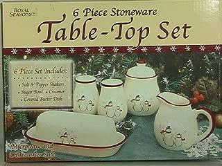 ROYAL SEASONS_6 Piece SNOWMAN Stoneware Table-Top Set by ROYAL SEASONS