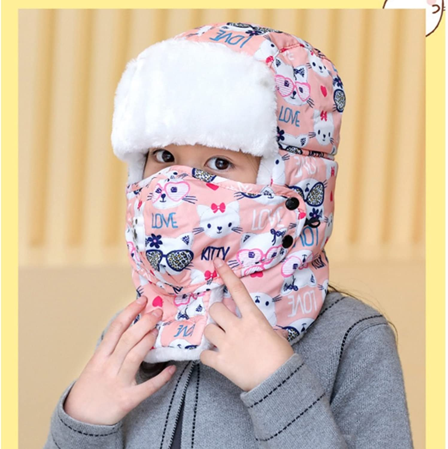 - CJC Chapeau + Masque Enfants Adolescent Garde Au Au Au Chaud color De Camouflage épaissir Huit colors Soft Comfortable (color   2) a8f7f5