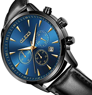 Amazon's top Selling Watches,Men's Watches,Men's Chronograph Luminous Quartz Watch,Mens Dress Watch for Men with Date Calendar,Mens Rose Gold Watch with Big Face,Brown/BlackLeather,Stainless Steel