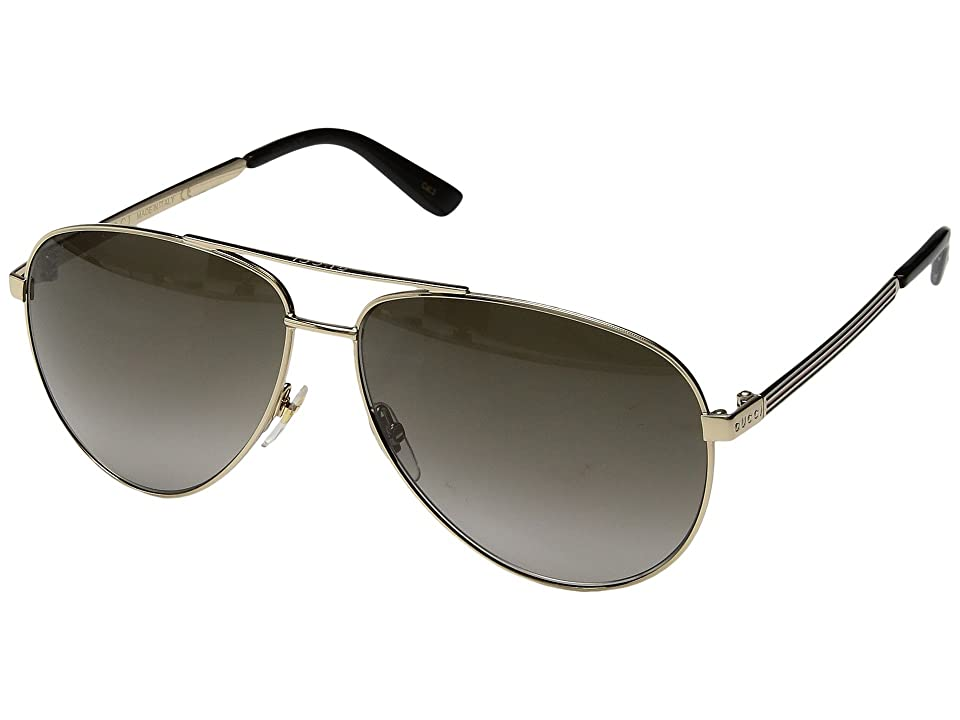 Gucci GG0137S (Gold/Brown Gradient) Fashion Sunglasses