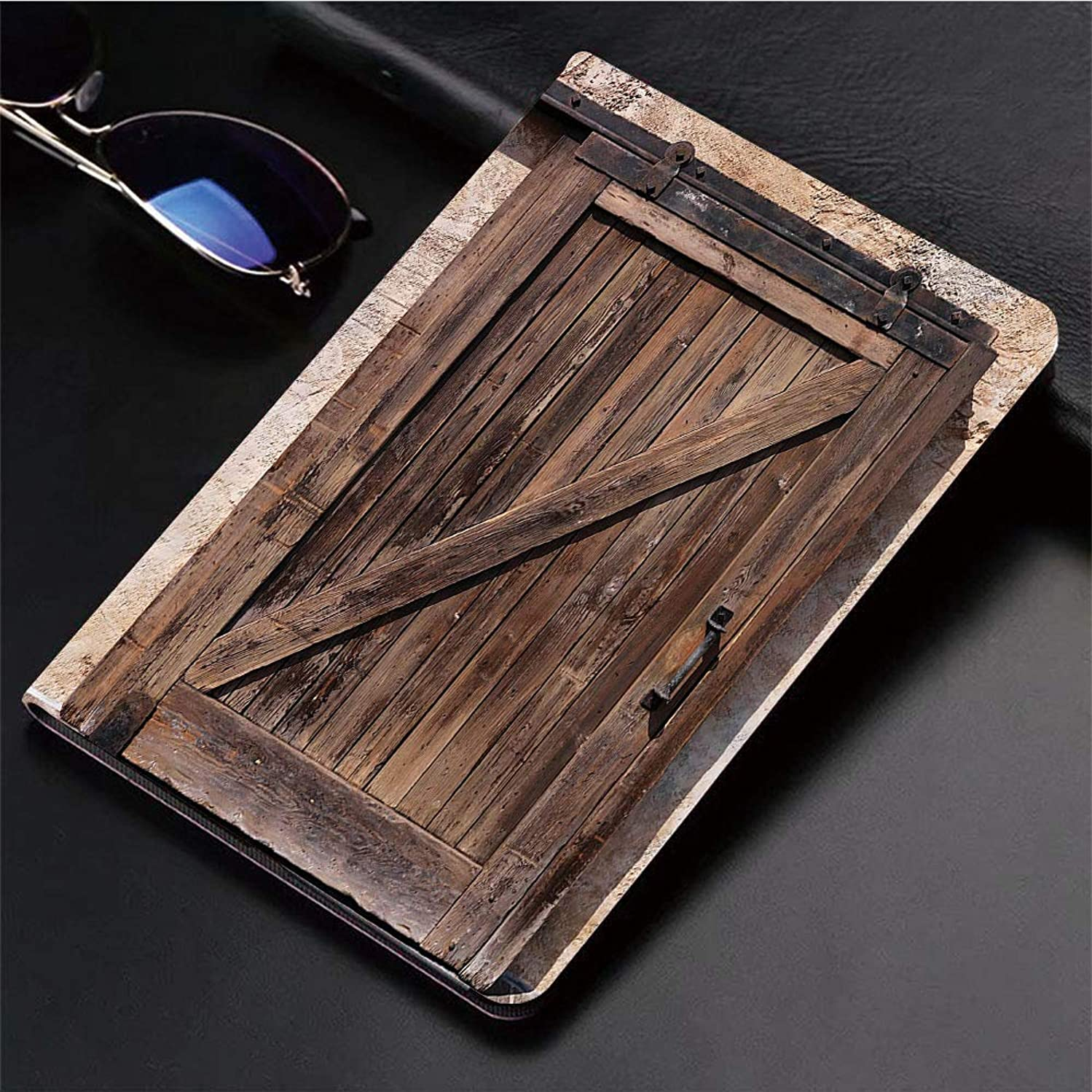 Compatible with 3D Printed iPad 9.7 Case,Aged Sliding Door with Rustic Texture Authentic Vintage Archit,Lightweight Anti-Scratch Shell Auto Sleep/Wake, Back Protector Cover iPad 9.7