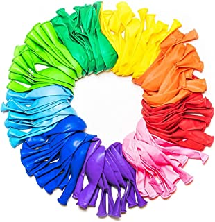 Goodern Balloons Rainbow Set (100 Pack), Assorted Bright Colors, Made With Strong Multicolored Latex, For Helium Or Air Us...