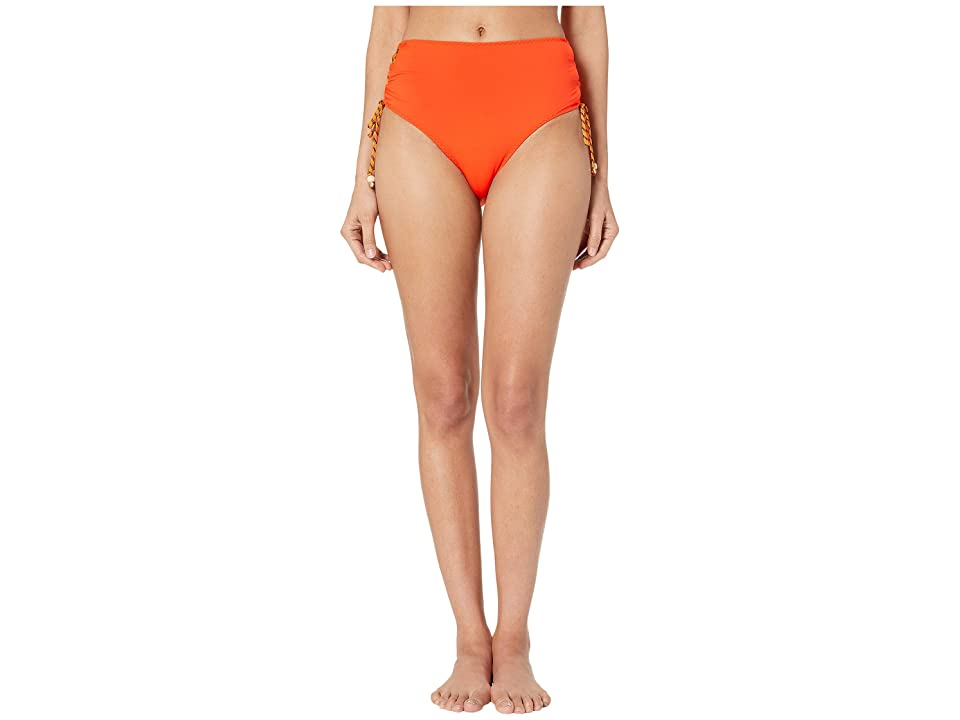 Stella McCartney Lacing High-Waist Bikini Bottoms (Orange) Women