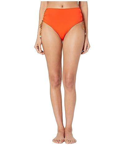 Stella McCartney Lacing High-Waist Bikini Bottoms (Orange) Women