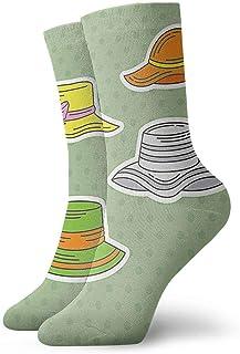 Wdskbg Bonnet Icons Casual Crew Socks,Thin Socks Short Ankle for Outdoor,Running,Athletic,Travel
